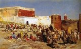 Edwin Lord Weeks (1849 – 1903), American artist and Orientalist, was born at Boston, Massachusetts, in 1849. He was a pupil of Léon Bonnat and of Jean-Léon Gérôme, at Paris. He made many voyages to the East, and was distinguished as a painter of oriental scenes.<br/><br>   Weeks' parents were affluent spice and tea merchants from Newton, a suburb of Boston and as such they were able to accept, probably encourage, and certainly finance their son's youthful interest in painting and travelling.<br/><br>  As a young man Edwin Lord Weeks visited the Florida Keys to draw and also travelled to Surinam in South America. His earliest known paintings date from 1867 when Edwin Lord Weeks was eighteen years old. In 1895 he wrote and illustrated a book of travels, From the Black Sea through Persia and India.